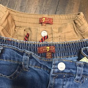 2 pairs 7 for all mankind pants